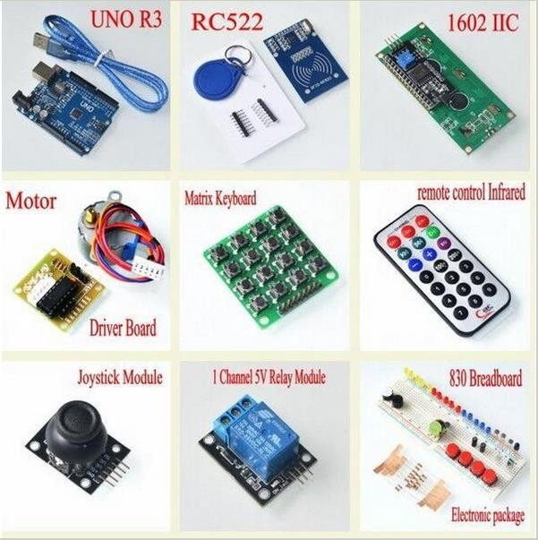 New RFID Module and RFID Keychain Arduino Starter Kit With Retail Box for Arduino 3