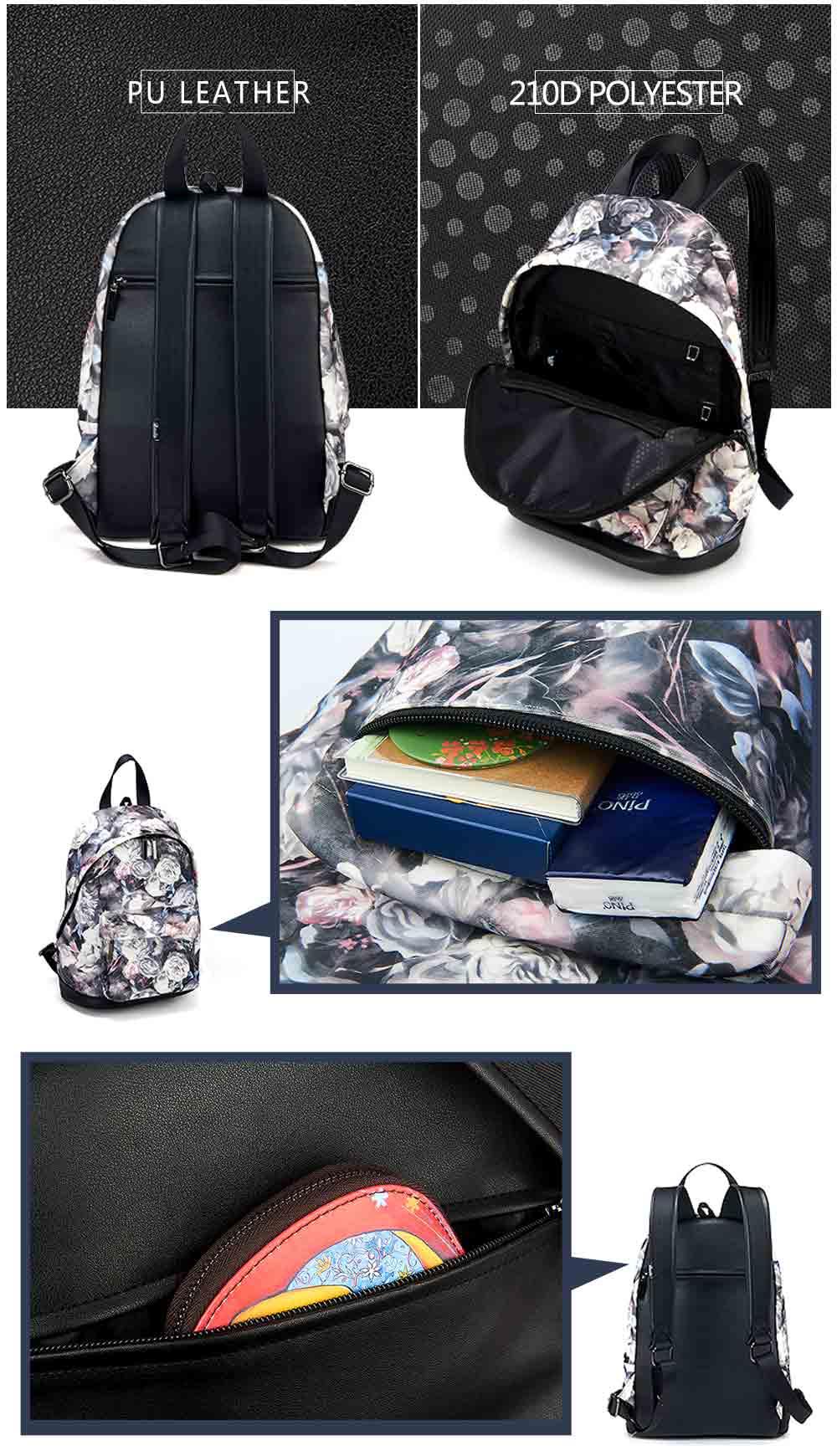 3d196d9345 BAIDA Fashion Women Backpacks Cool Floral Print Laptop Travel ...