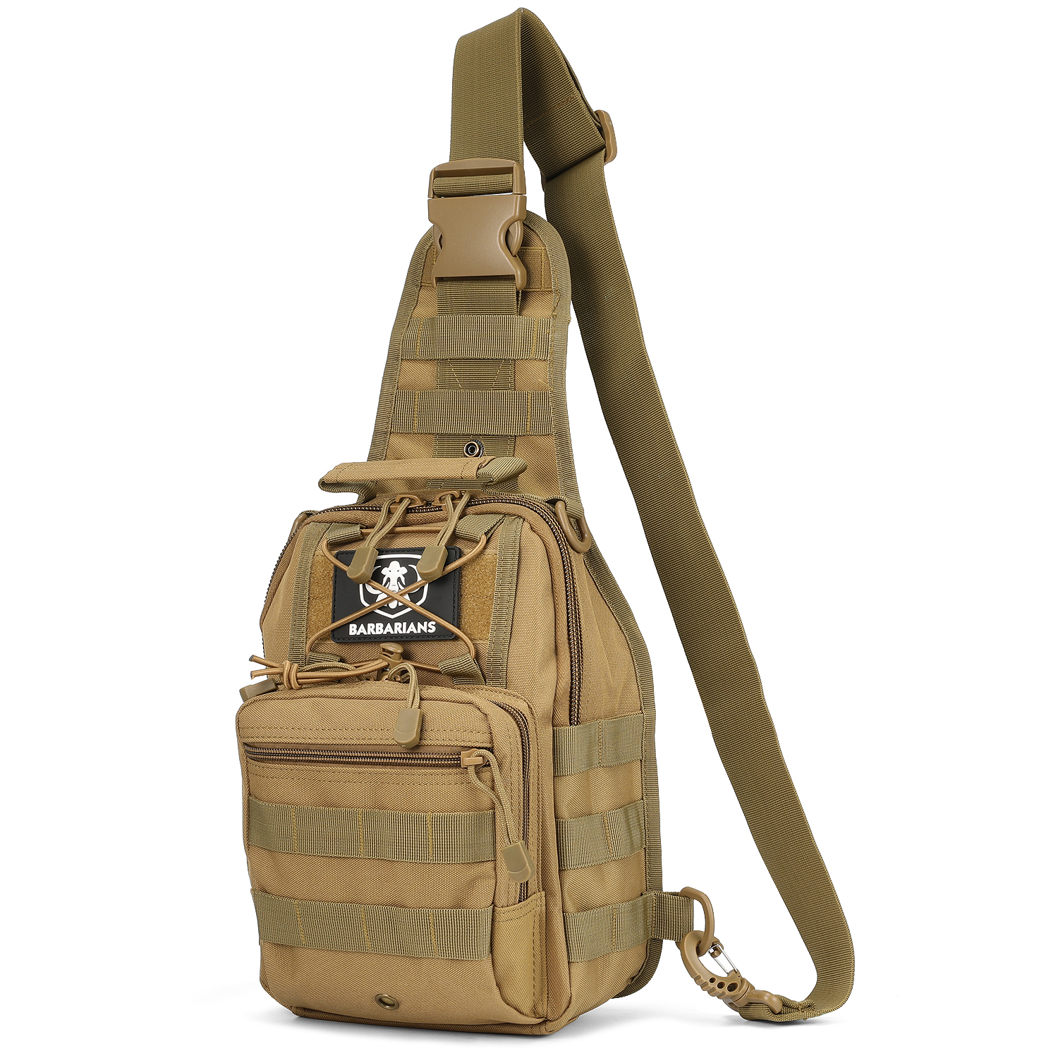 Military Tactical Travel Hiking Shoulder Crossbody Chest Sling Bag Day Pack