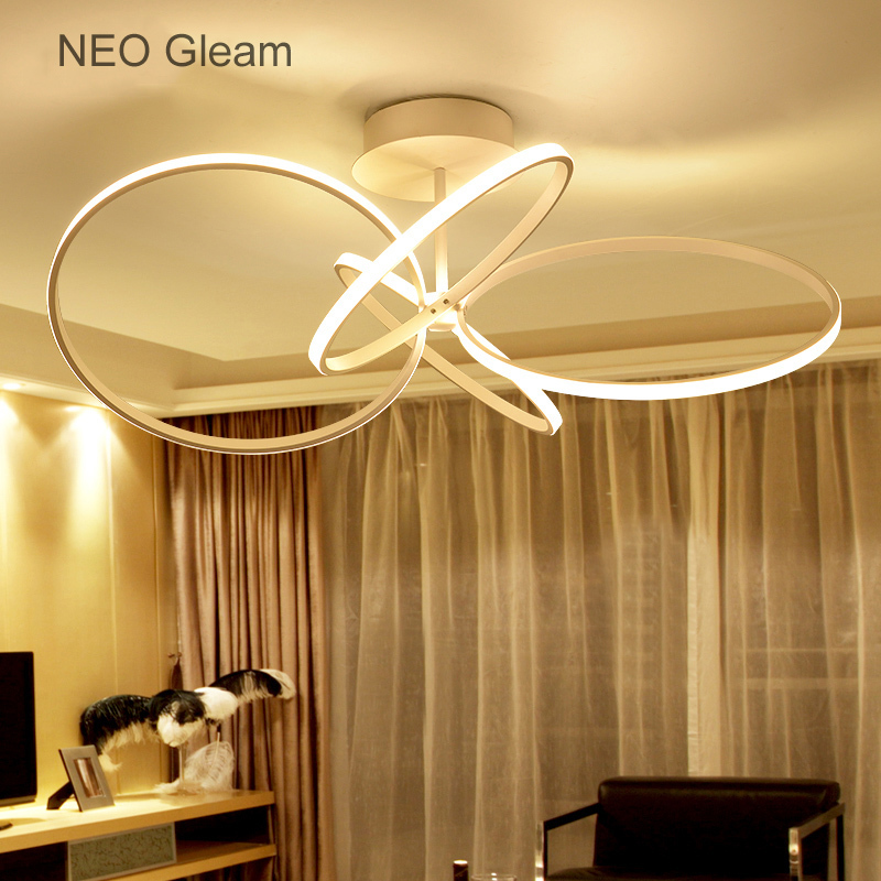 цена NEO Gleam New Surface mounted modern led ceiling lights for living room Bedroom Aluminum White AC85-265V Indoor LED Ceiling Lamp