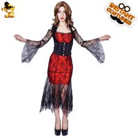 DSPLAY Sexy Halloween Party Dress For Women Adult Ghoic Vampire Lady Costume