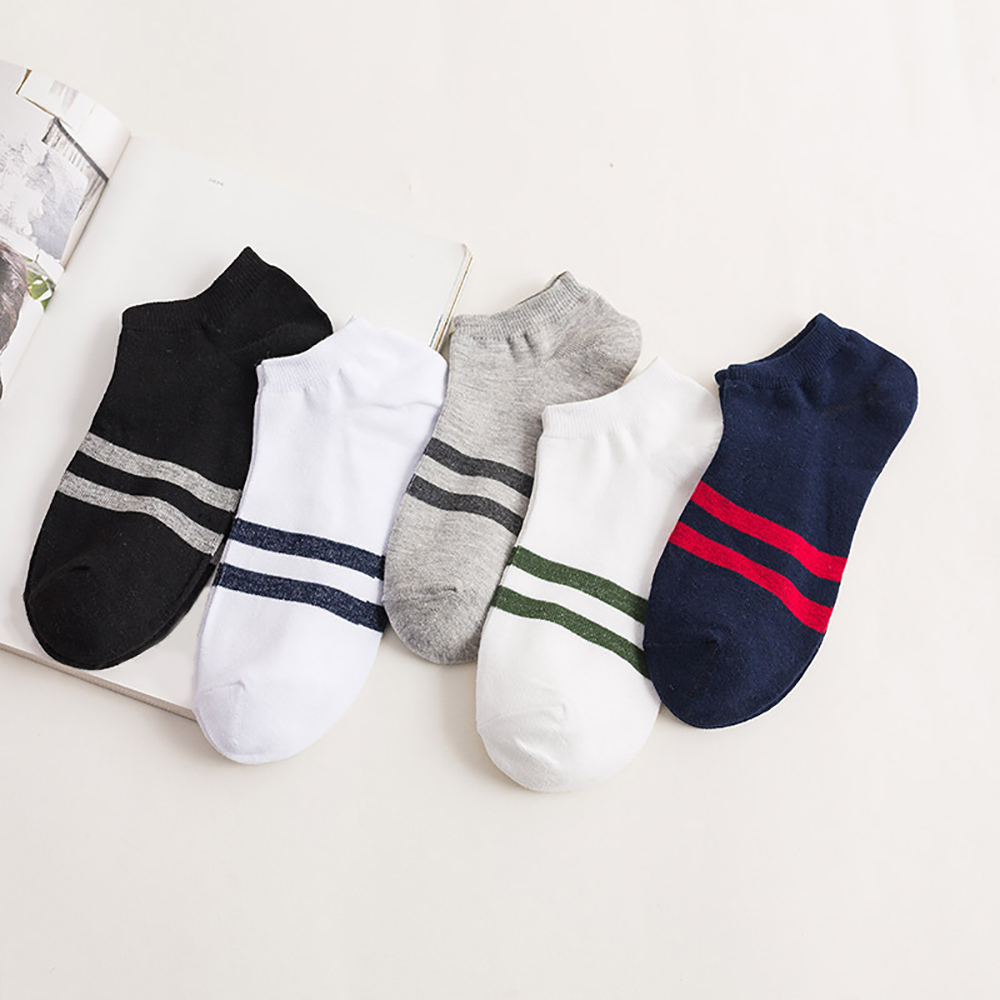 10 Pieces=5 Pairs Ankle Socks Men Breatheable Cotton Socks Slippers Meias Anti-Bacterial Business Casual Thin Socks For Man