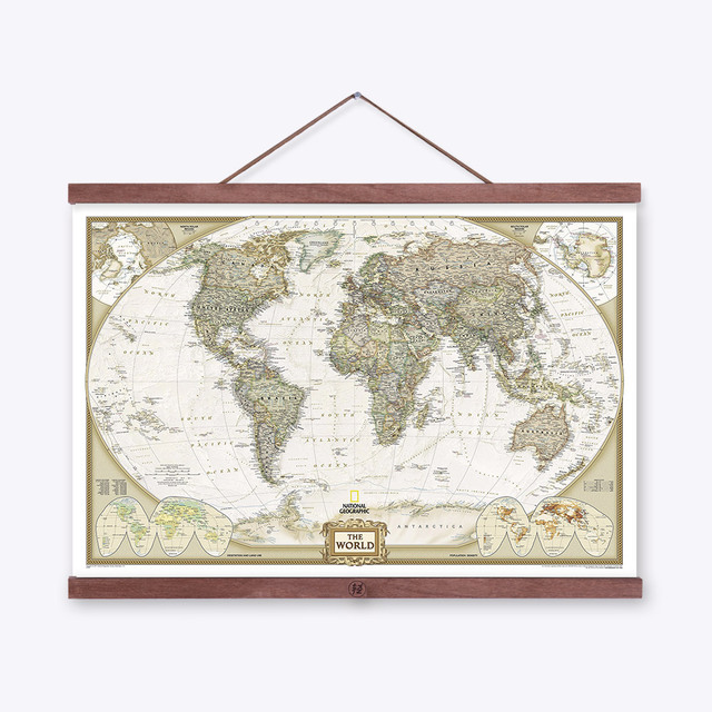 Vintage national geography world map poster prints canvas paintings vintage national geography world map poster prints canvas paintings wall artworld map painting gumiabroncs Choice Image