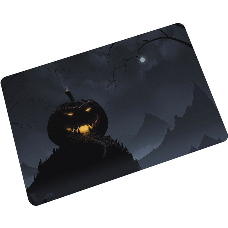 Zeegle Nordic Waterproof Door Mat Halloween Pumpkin Floor Mat Carpet Bedroom Rug Decorative Stair Mats Home Decor Crafts