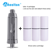 2016 SPA Bathing Dechlorination Water Purifiern Shower Filtration Soft Water Attach Extra 3 Cartridges Free Shipping