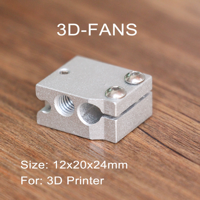 1pc New Type Volcano Heater Block For E3D Volcano Hotend Compatible PT100 Sensor/Thermistor Cartrodge For 3D Printer 24x20x12mm