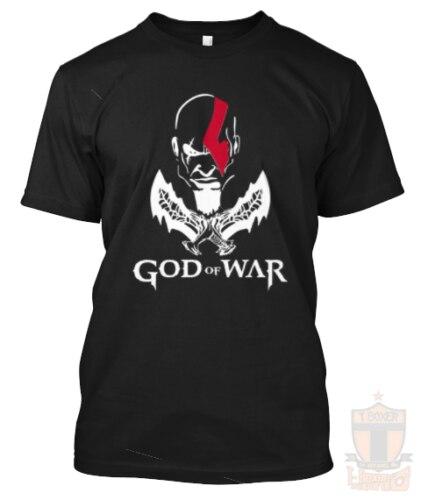 New God Of War Kratos PS4 Xbox ONE Tee/T Shirt/Shirt/Playera Video Game Summer Men'S fashion TeeComfortable t shirt ,