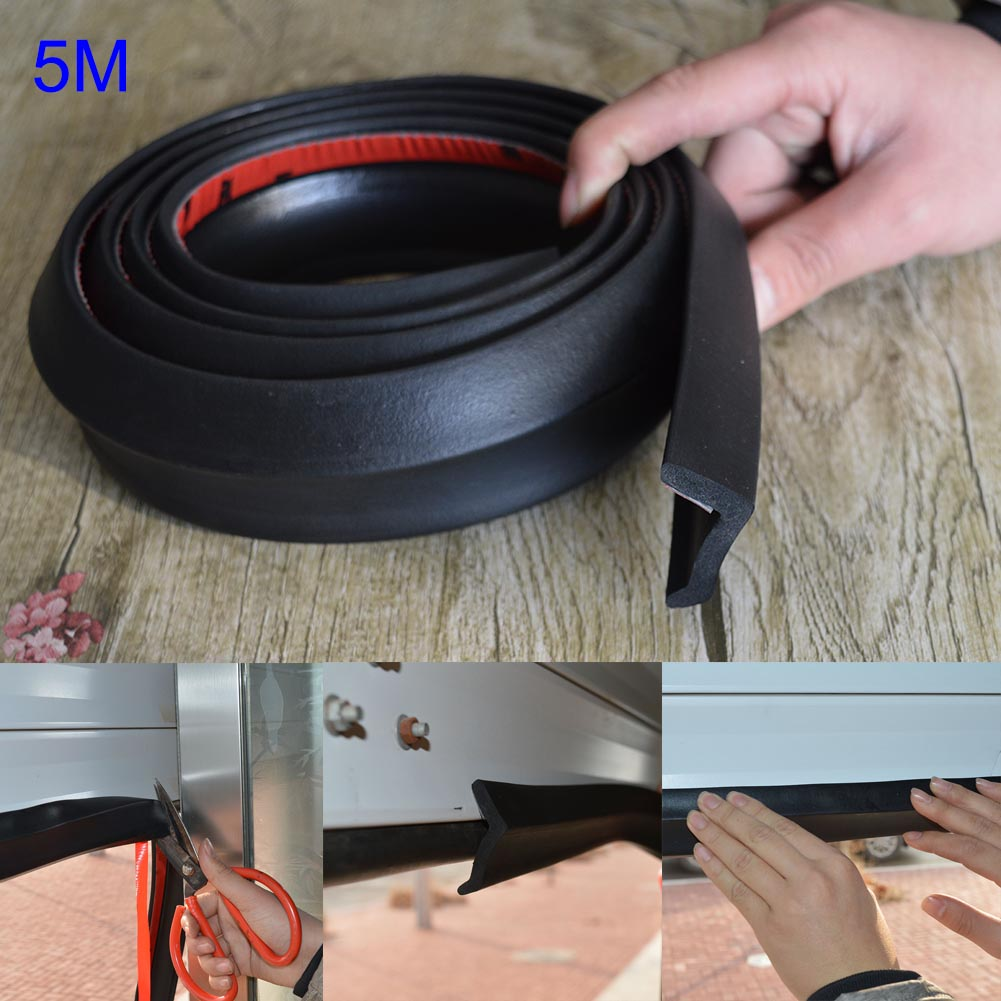 5m Garage Door Bottom Weather Stripping Rubber Seal Strip Replacement Door Bottom Seal --M25