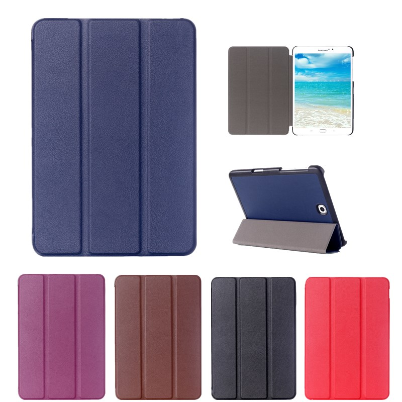 2017 New Solid PU Leather Case For Samsung Galaxy Tab S2 8.0 T710 T715 SM-T715 Tablet Stand Slim Folding Protective Cover
