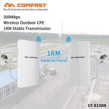 1KM Tầm Xa Ngoài Trời Mini CPE Cầu 300Mbps POE Router Không Dây WDS Cầu Phạm Vi Mở Rộng Sóng Wifi Repeater Ăng Ten dùng Cho Camera IP