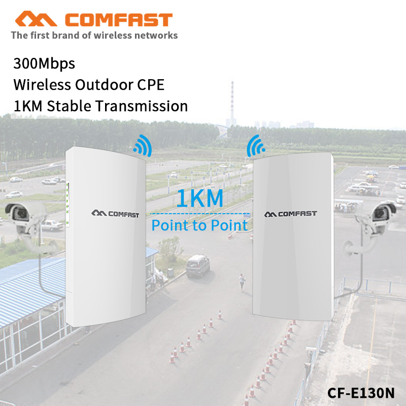 1KM Long Range Outdoor Mini CPE Bridge 300Mbps POE Router WDS Wireless Bridge Range Extender Wifi Repeater Antenna For IP Camera