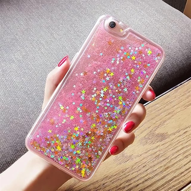 huge discount 1943d 74037 For Oppo A83 Case Love Heart Glitter Stars Liquid Quicksand Soft Cases For  Oppo F1S Colorful TPU Back Covers For Oppo F5 F3 Capa
