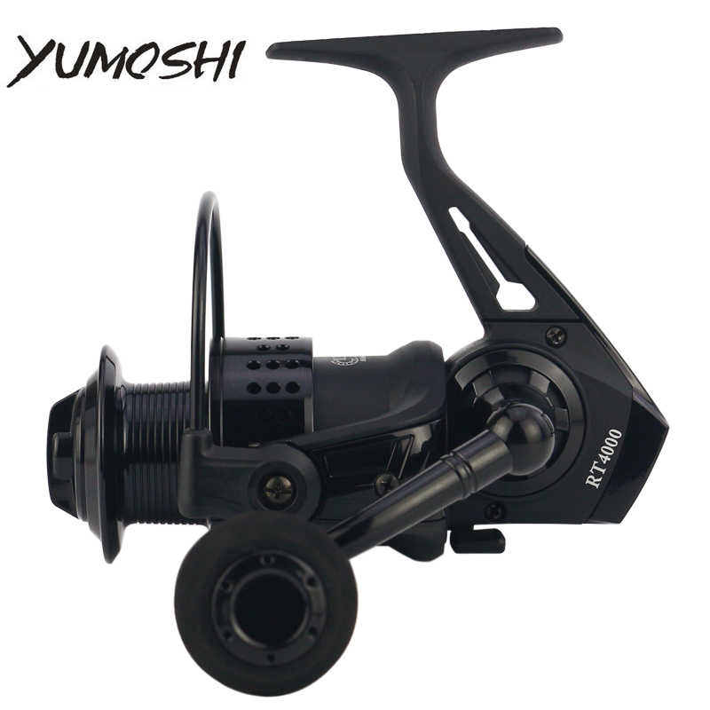 YUMOSHI Fishing Reel RT2000/3000/4000/5000/6000/7000 Full Metal Spool 13+1BB CNC Rocker Arm Spinning Reel Fishing Tackle Pesca стоимость