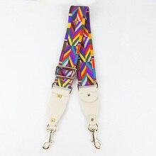 SFG дом моды красочные плечевой ремень удлиненной ручкой сумке Для женщин сумка Интимные аксессуары замена ремень через плечо