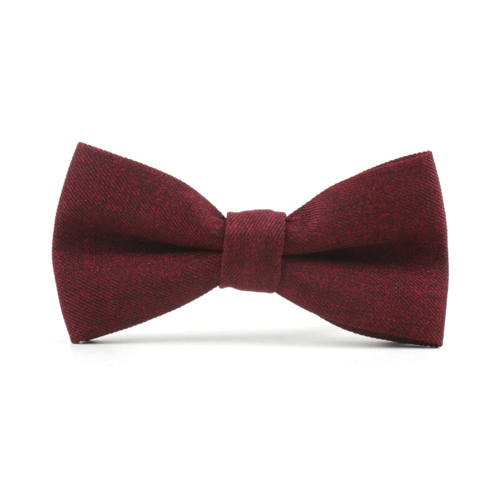 Mantieqingway Mens Cotton Bowtie Wine Red Business Suits Bowtie Fashion Casual Suit Bow Ties Gravatas Slim Bowknots Cravat