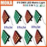 8 шт./лот XLR 3pin матрица 25 шт. светодиоды 30wx25 света DMX 8/20 CH RGB 3 в 1 для ночного клуба удобно быстро блокировки Системы свет