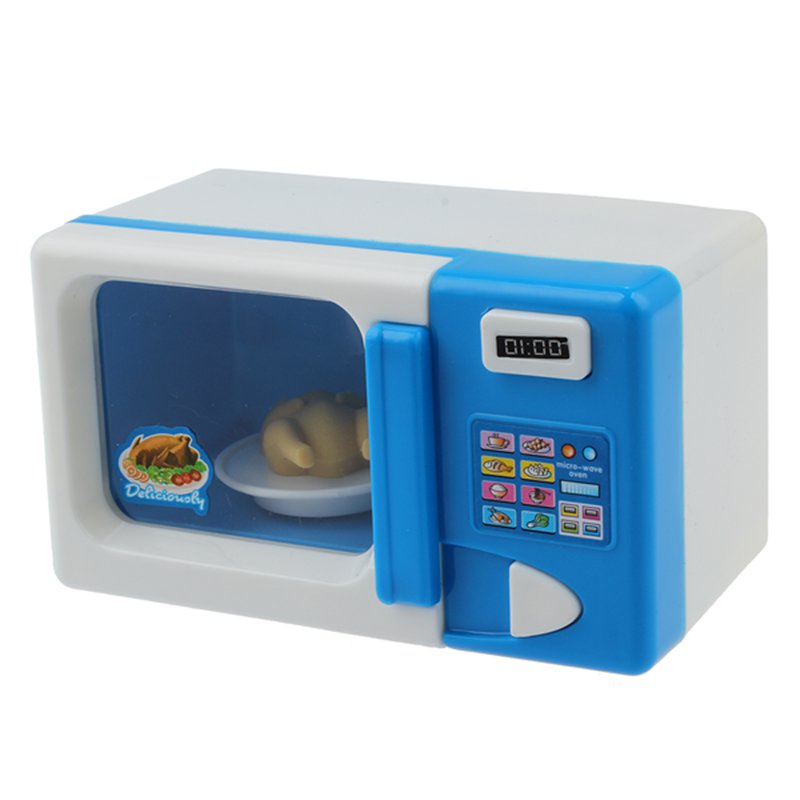 Baby Kid Developmental Educational Pretend Play Home Appliances Kitchen Toy Gift Home Appliances For Kid Child Microwave Oven