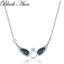Новое поступление, классическое 925 пробы Серебряное ювелирное изделие, Трендовое крыло, Обручальное ожерелье и кулоны для женщин P195