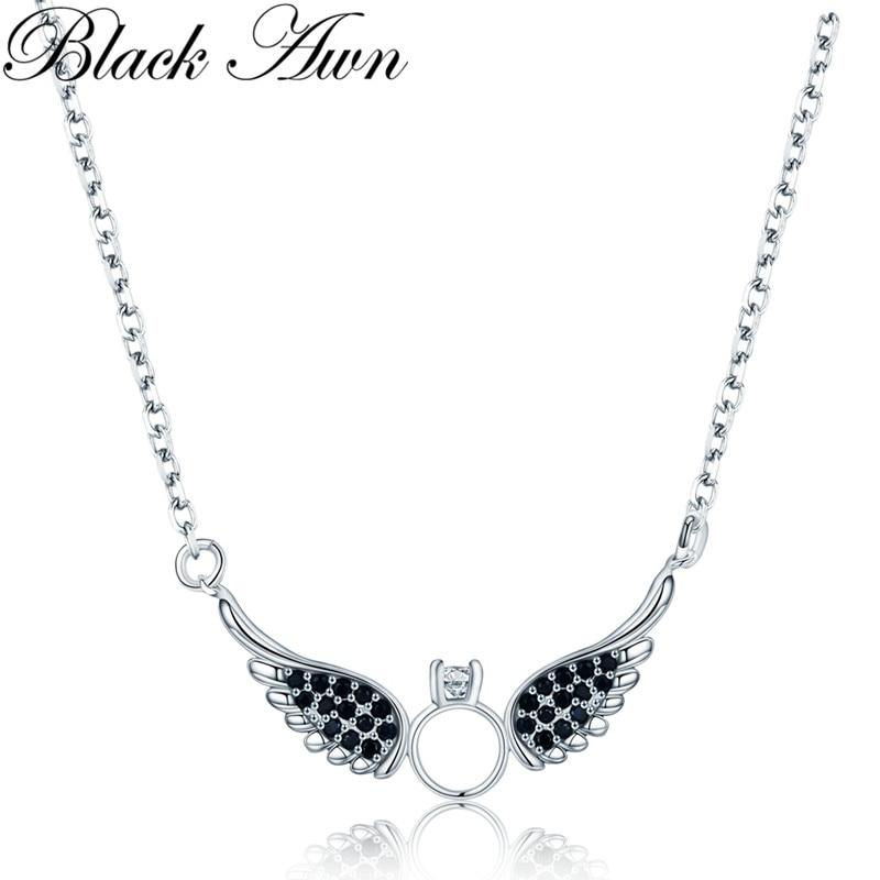 BLACK AWN nieuwe aankomst klassieke 925 sterling zilver fijne - Fijne sieraden - Foto 1