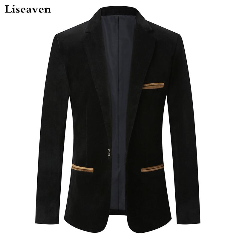 Liseaven Men's Blazer Casual Men Blazers Slim Blaser Masculino Male Jacket Blazer Clothing Men Suits& Blazers