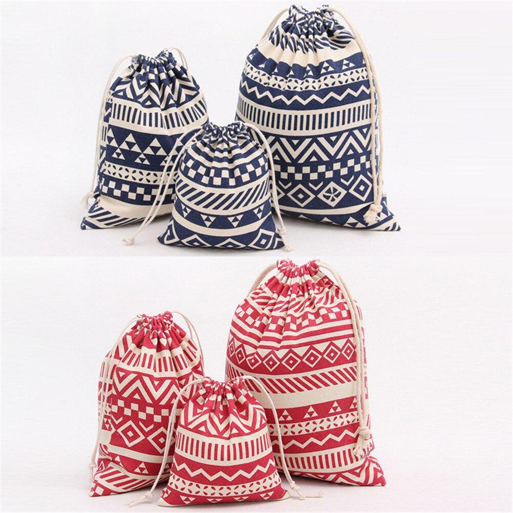 Для женщин хлопок путешествия Геометрия подарочные пакеты обувь для девочек сумки чехол для хранения одежды сумочка косметичка Портативны...