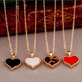 N147 Fashion Vintage 3 colors Heart Pendants Necklace Chain For Women Jewelry Accessories Wholesale 2017 Best Selling