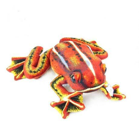 stuffed simulation animal red frog 50 cm plush toy soft doll b9789 stuffed animal 120 cm cute love rabbit plush toy pink or purple floral love rabbit soft doll gift w2226