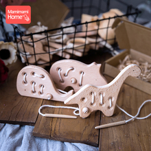 Mamihome 1pc Kindergarten Mouse Toy Wooden Teether Animal Beech Rodent  Teething Pendants Toys Baby Crib ChildrenS Goods