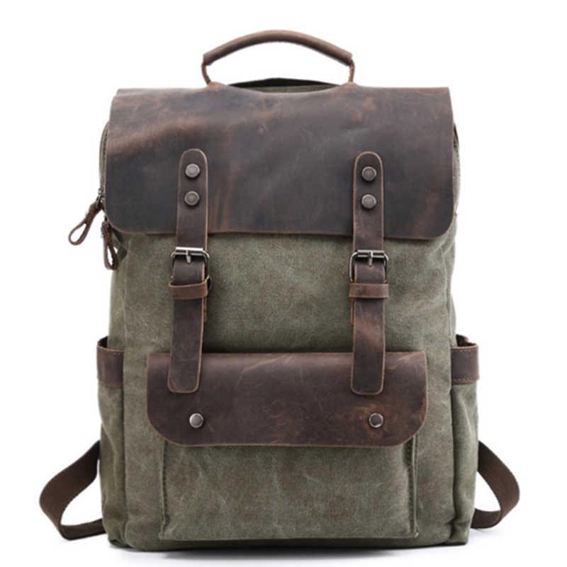 Homens cáqui/café/lago verde/exército verde/cinza Bolsa de ombro Mochila de Lona Mochila Escolar Para Adolescentes laptop Mochilas Casuais