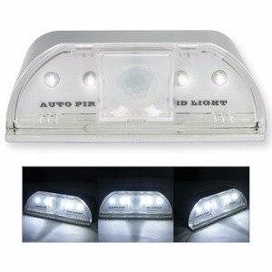 Image 5 - Lamp Night Light Intelligent Auto PIR Door Lock Induction Lamp Door Keyhole IR Motion Sensor Heat Detector 4 LED Smart Light
