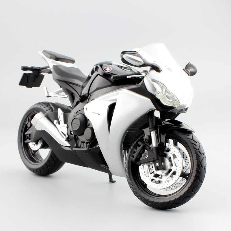 1/12 Automaxx Honda CBR1000RR CBR Pedang Api Motor Diecasts & Kendaraan Mainan Skala Balap Sepeda Model Thumbnail untuk Anak-anak Anak