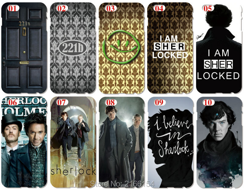 Sherlock 221b Shell Cover For iphone 10 X 4 4S 5 5S SE 5C 6 6S 7 8 Plus For iPod Touch 5 6 Phone Case Coque Fundas Bumper