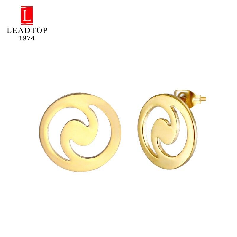 LEADTOP 2018 New Arrival Coffee Bean Earring Hollow Tai Ji Ying Yang Tai Chi Gossip Bagua Stud Earrings For Women