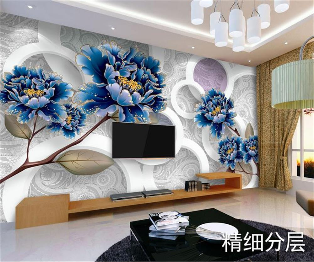 Custom 3d photo wallpaper room mural non-woven sticker big gold peony HD photo painting sofa TV background wallpaper for wall 3d 3d room photo wallpaper custom mural moth orchid 3d photo painting room sofa tv background wall wallpaper non woven wall sticker