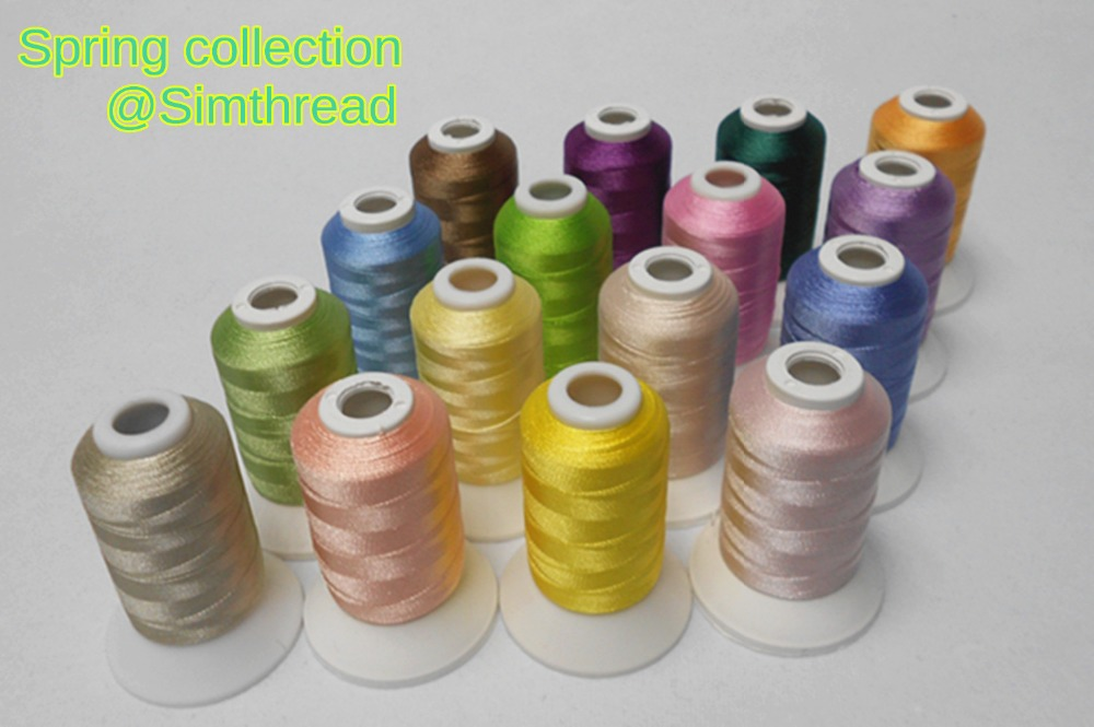 Simthread 25 White Color Prewound Bobbin Embroidery Thread Size A Class 15 with Bobbin Holder Box Suitable for Janome Brother Babylock Singer Machines