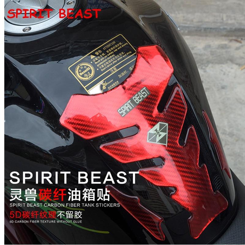 SPIRITO BESTIA Decorazione Moto Fuel Tank Pad Stickers Cap Gas Pad Adesivi copertura Per Yamaha YZF R1 R6 FZ1 FZ6 Honda Kawasaki