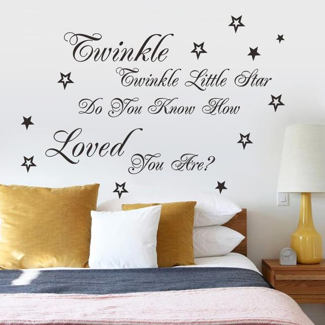 Engels little star tekst patroon muur plakken slaapkamer kinderen ...