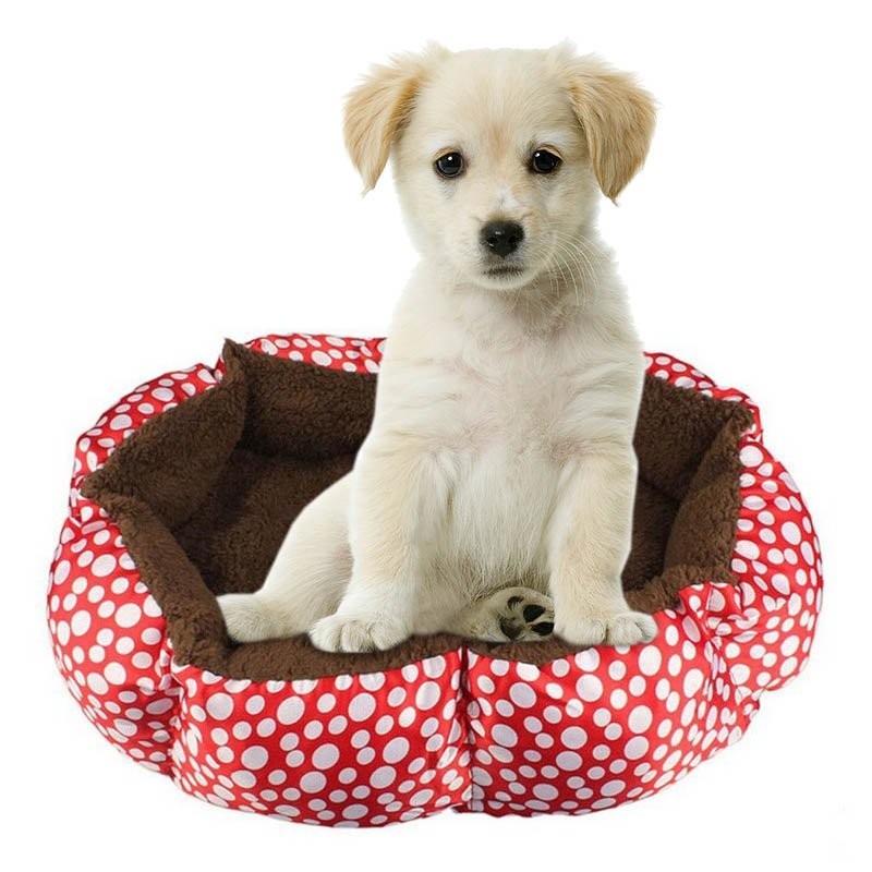 Nuevos Productos Para Mascotas Mascotas Gatos Perros Cama Pequeño Lunar patrón C