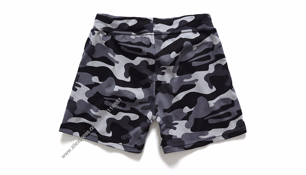 New Fashion Cotton Men\'s Jogger Short Leisure Workout Short With Pocket Casual Camouflage Elastic Waist Home Lounge Shorts PF73 (9)