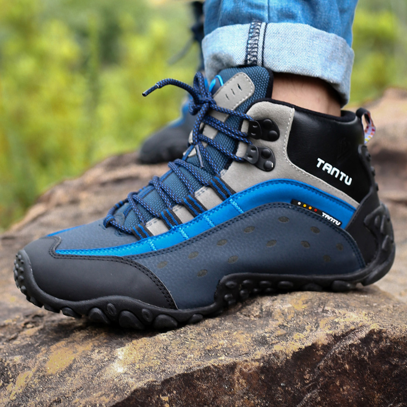 Men's Sports Shoes men Sneakers Male Outdoor Adventure Sports Hiking Shoes Men Walking Shoes autumn Hiking boots Male цена