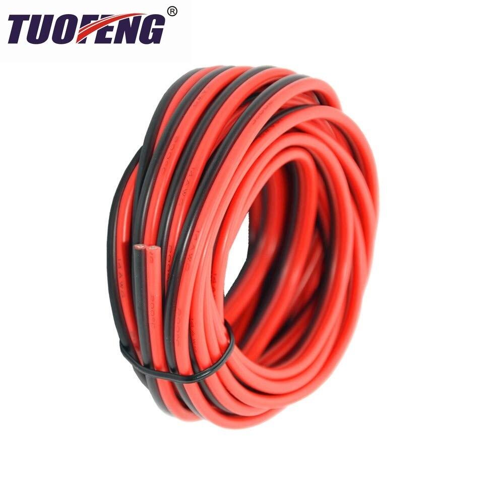 14 AWG Электрический провод с силиконовой оплеткой 2 проводника параллельная проводная линия мягкий и гибкий 2.1mm ² бескислородный провод луже...