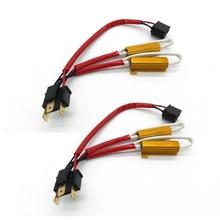 2 pcs 100 W 8RJ H4 Faro Resistenza di Carico LED Canbus Auto Nebbia Lampade Decoder Avviso di Errore di Resistenza