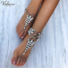 Vedawas 1 Pcs Facebook Hot Anklet Accessories Women Sexy Rhinestone Barefoot Sandals Crystal Anklet Beach Foot Jewelry 1403