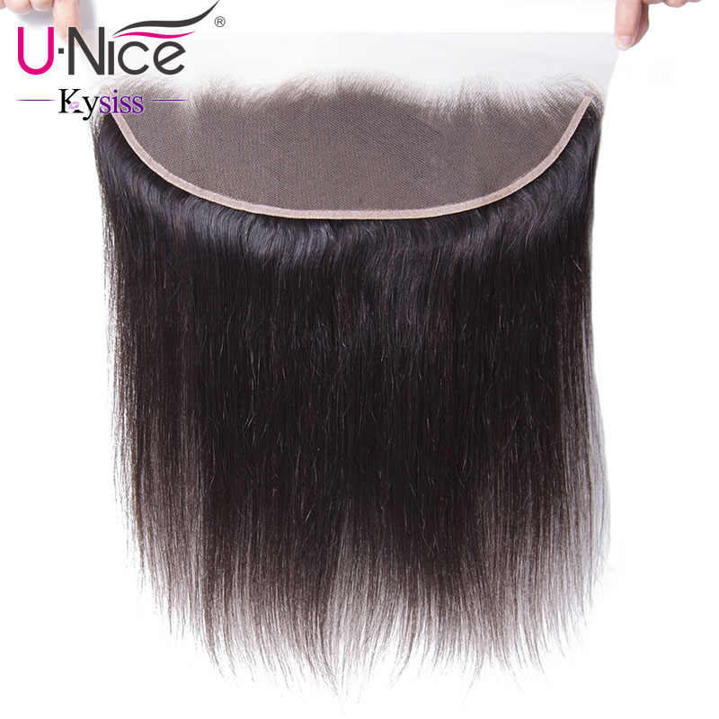 UNice Hair 8A Kysiss Virgin Series Brazilian Straight Hair Lace Frontal Closure With Bundles 4 PCS Human Hair Extensions 8-30""