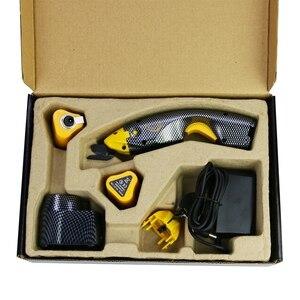 Image 3 - Tijeras eléctricas inalámbricas, herramienta de costura de corte con dos cabezales de corte y batería Extra para manualidades, papel de tela