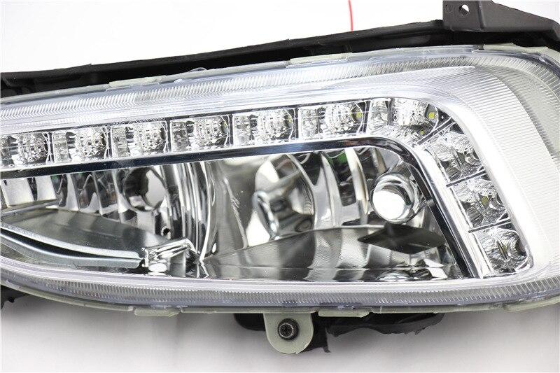 For Hyundai Santa Fe IX45 2013 2014 2015,ABS Waterproof Super Brightness 30W 12V Car DRL LED Daytime Running Lights Brake lights