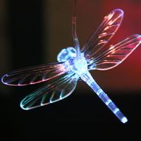 Color Changing Solar Power Dragonfly LED Solar Light Lighted Yard Led Outdoor Light Garden Path Decoration