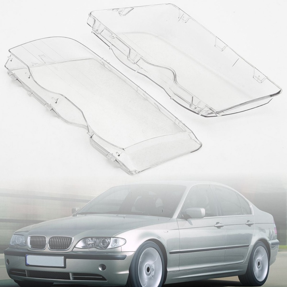 1 Pair Transparent Car Housing Headlight Lens Shell Cover Lamp Assembly For BMW E46 3 Series /4DR /Wagon /Sedan 1999 2001