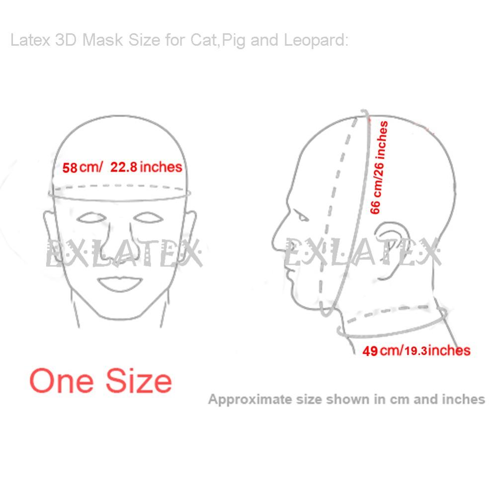 3D Latex Bondage us $35.59 11% off|latex mask fetish bdsm hood latex bondage full head 3d  latex pig animal pink mask hood japanese fox mask-in boys costume  accessories