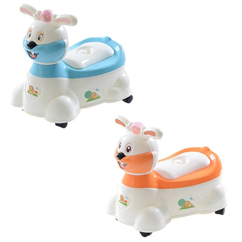 Baby Potty Cartoon Cute Rabbit Musical Travel Kids Plastic Comfortable Training Children's Drawer Type Extra Toilet With Wheel